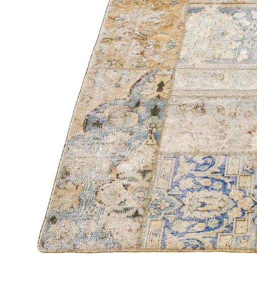 Recoloured vintage Afghan patchwork vloerkleed Brokking Vloerkledenspecialist.nl IJsselstein