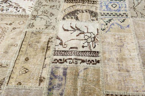 Turkish vintage patchwork vloerkleed Brokking Vloerkledenspecialist.nl IJsselstein