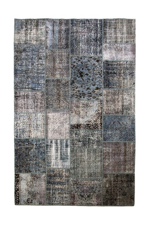 Turks vintage bleu/grey patchwork vloerkleed Brokking Vloerkledenspecialist.nl IJsselstein