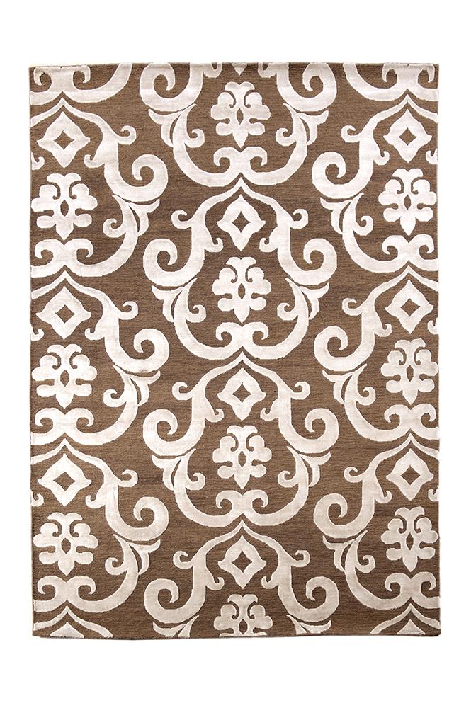 India Damask brown/beige vloerkleed Brokking Vloerkledenspecialist.nl IJsselstein