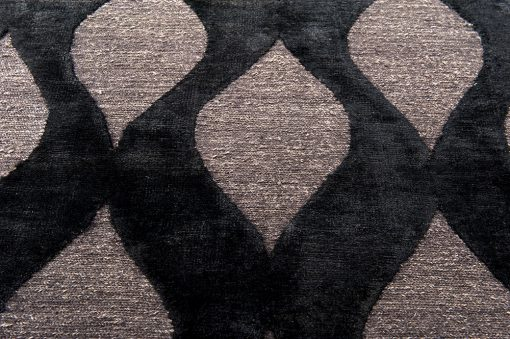 India Damask black vloerkleed Brokking Vloerkledenspecialist.nl IJsselstein