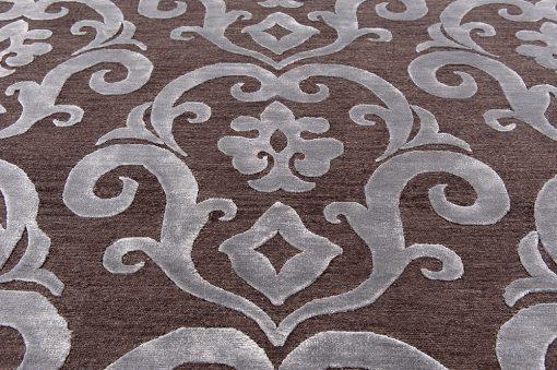 India Damask silver/brown vloerkleed Brokking Vloerkledenspecialist.nl IJsselstein