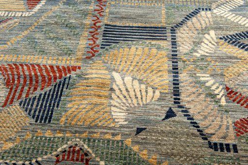 Afghan Art Nouveau vloerkleed Brokking Vloerkledenspecialist.nl IJsselstein
