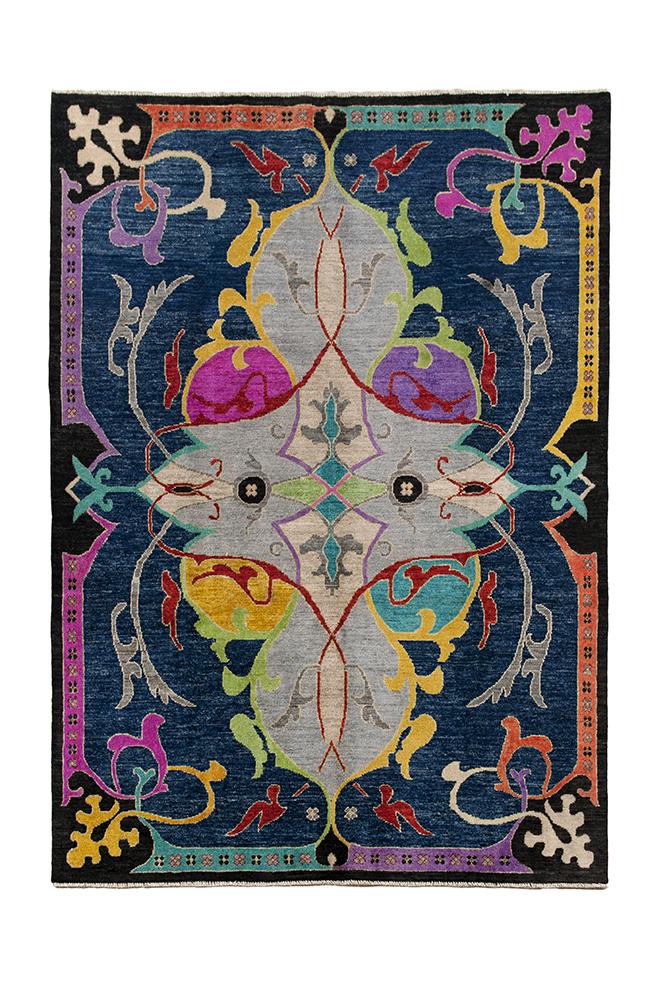 Afghan Art Deco special vloerkleed Brokking Vloerkledenspecialist.nl IJsselstein (105)