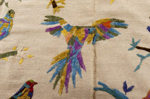 Afghan Kelim Bugs 'n Birds Brokking Vloerkledenspecialist.nl IJsselstein