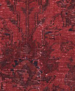 Turks patchwork vloerkleed rood detail Brokking Vloerkledenspecialist