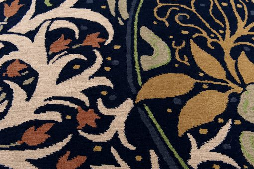 Nepal flower design detail1 - Brokking vloerkledenspecialist