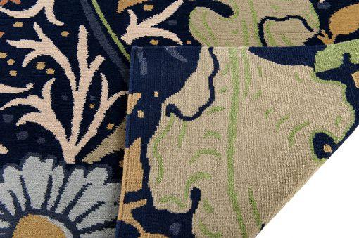 Nepal flower design detail2 - Brokking vloerkledenspecialist