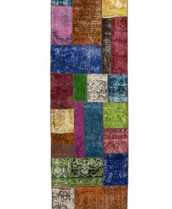Vintage patchwork loper - Brokking Vloerkledenspecialist
