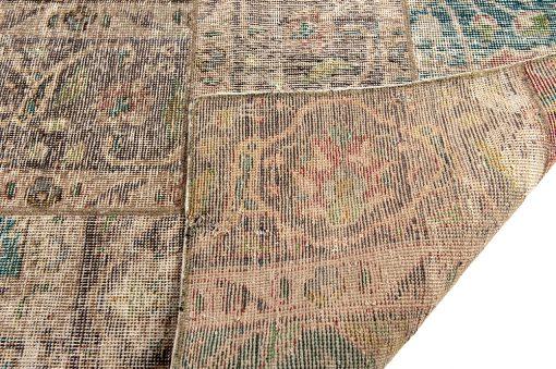 Iran patchwork vintage corner - Brokking Vloerkledenspecialist