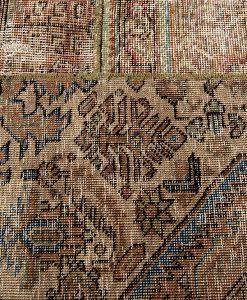 Vintage patchwork Iran detail1 - Brokking Vloerkledenspecialist