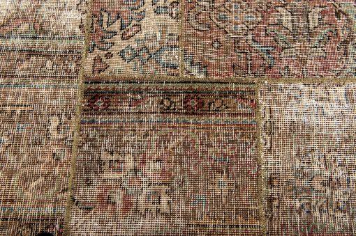 Vintage patchwork Iran detail2 - Brokking Vloerkledenspecialist