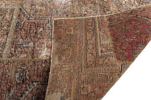 Vintage patchwork Iran corner - Brokking Vloerkledenspeciailist