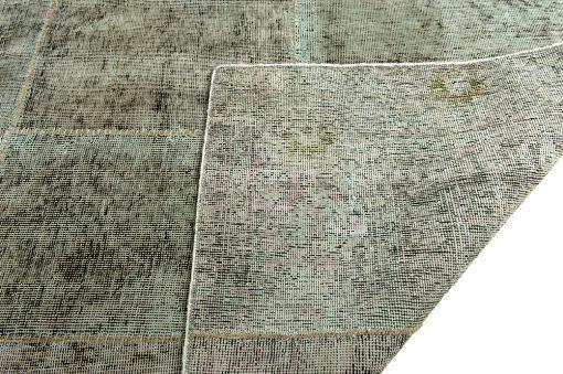 Vintage patchwork green corner - Brokking Vloerkledenspecialist