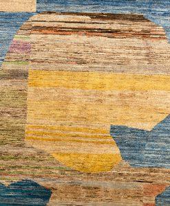 Pakistan Art Deco vloerkleed - detail - Brokking Vloerkledenspecialist