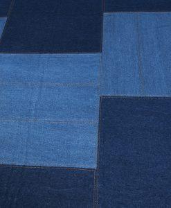 Patchwork Jeans detail Brokking Vloerkledenspecialist