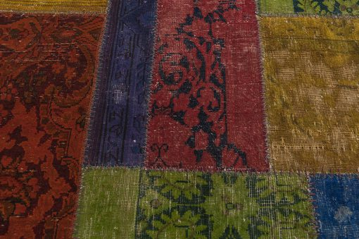 Vintage patchwork Iran detail | Brokking Vloerkledenspecialist