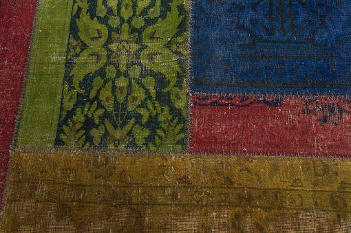 Vintage patchwork Iran detail-2 | Brokking Vloerkledenspecialist