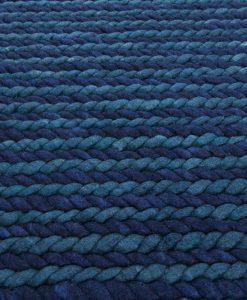 SALE Cable blue Maroc detail Brokking Vloerkledenspecialist