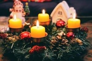 kaarsen en kerst