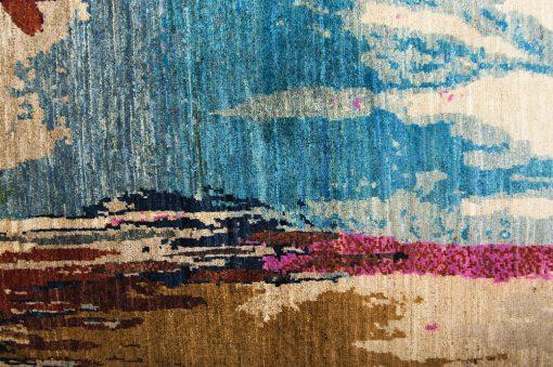 Painting Art vloerkleed detail - Brokking Vloerkledenspecialist.nl