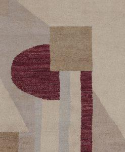Pakistan modern design vloerkleed detail | Brokking Vloerkledenspecialist