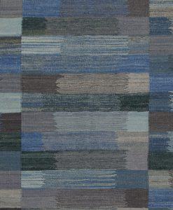 Modern Afghaans Kelim vloerkleed detail | Brokking Vloerkledenspecialist
