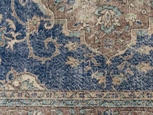 Origineel blauw Turks vintage vloerkleed Brokking Vloerkledenspecialist.nl IJsselstein (18)