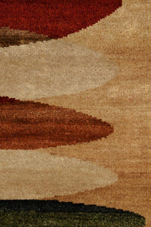 Detail Tribal oval India vloerkleed   Brokking Vloerkledenspecialist