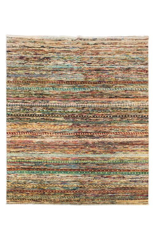 Kleurrijk modern gestreept vloerkleed