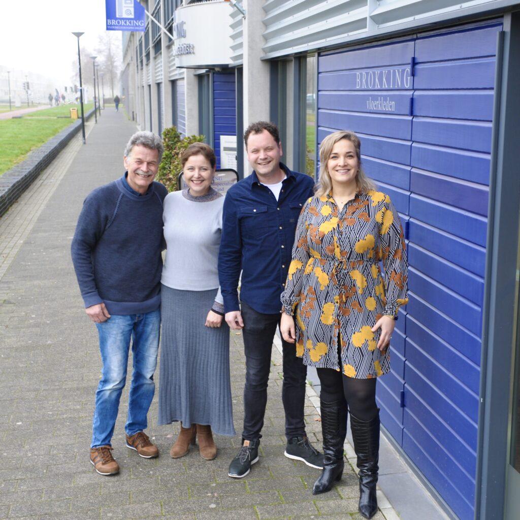 Piet, Jeannette, Kees en Maartje Brokking