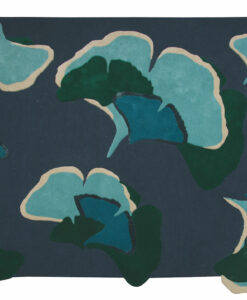 Ginkgo foret Designer blauw groen rechthoek