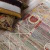 New vintage medaillon vloerkleed detail