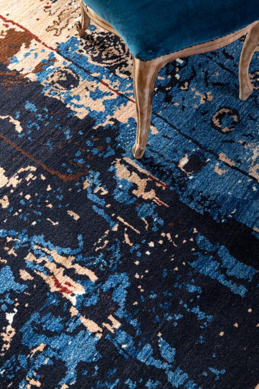 Detail Iraans Modern Art design vloerkleed