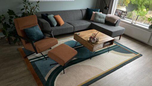 Meerkleurig vloerkleed Sonia Harvink meubels