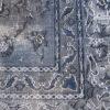 Groot blauw-grijs vintage vloerkleed