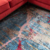 Abstract design vloerkleed uit India detail