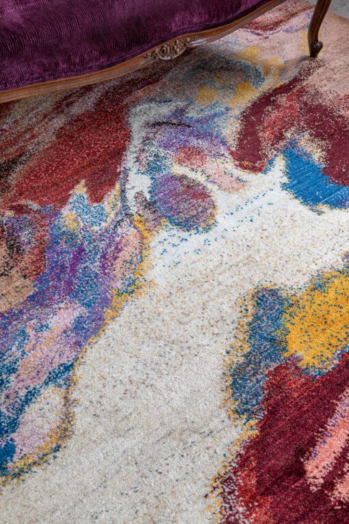 Modern Kashkuli vloerkleed uit Iran detail