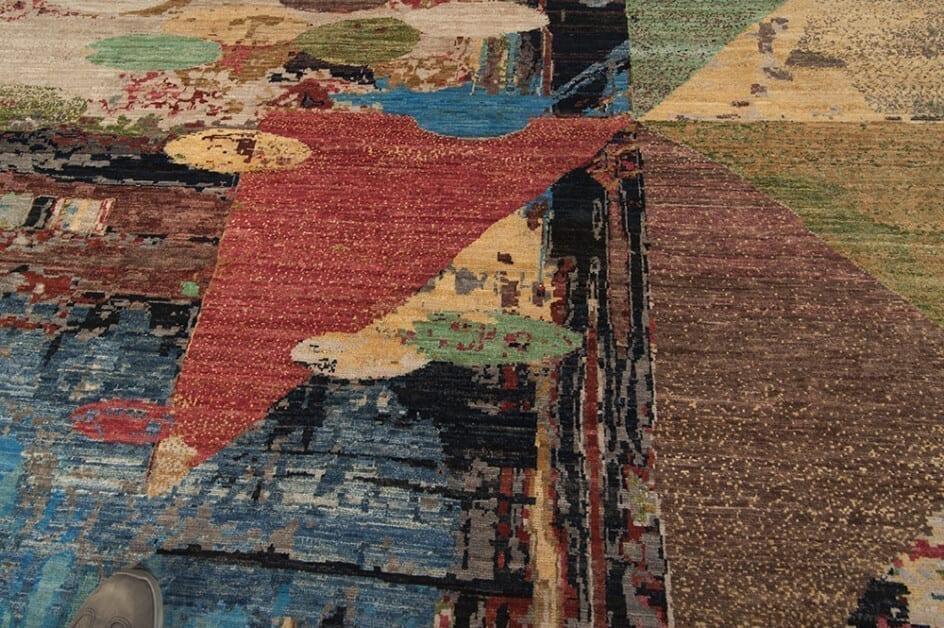 Modern Afghan Tribal Art vloerkleed