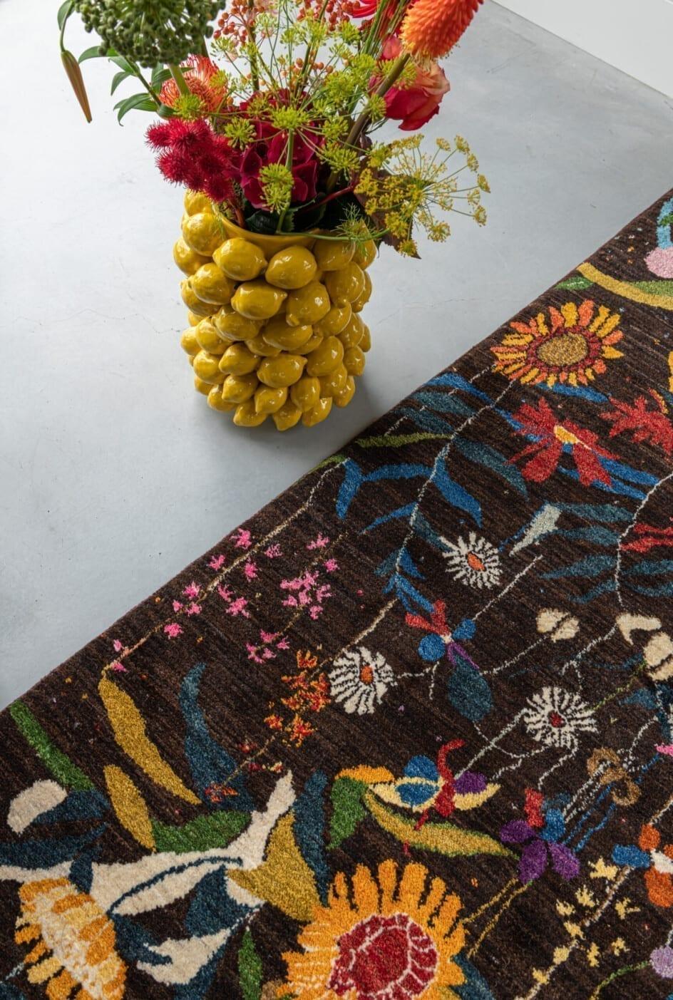 Iraans Luribaft flower vloerkleed - Brokking Vloerkledenspecialist