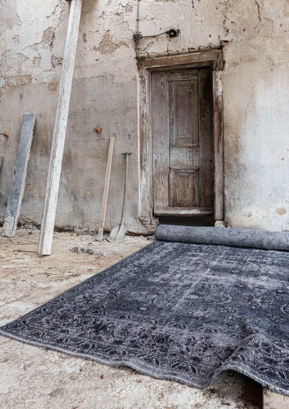 Groot blauw-grijs vintage vloerkleed - Brokking Vloerkledenspecialist