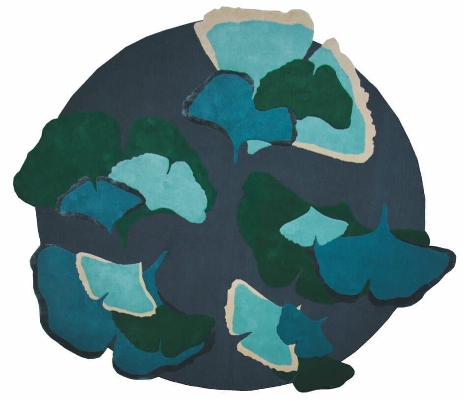 Ginkgo Foret Designer Ginkgo foret Designer blauw groen rond