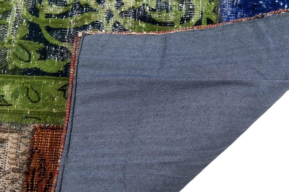 Vintage patchwork loper corner - Brokking Vloerkledenspecialist