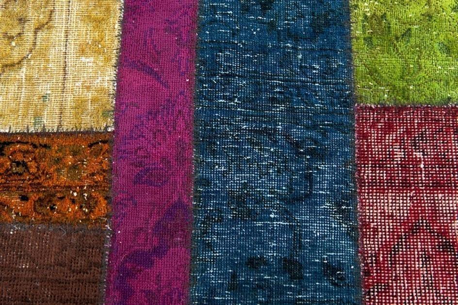 Vintage patchwork loper detail1 - Brokking Vloerkledenspecialist