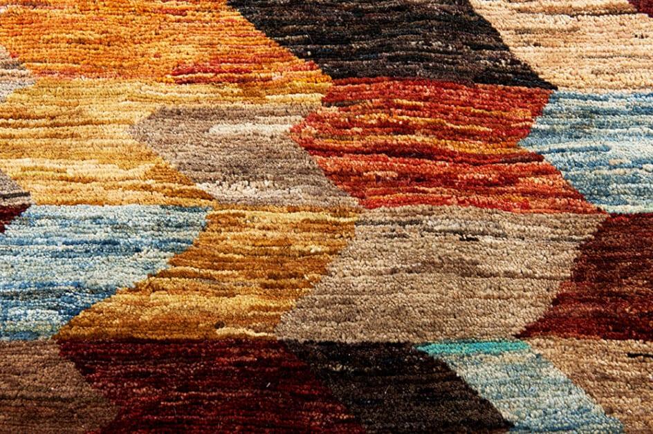 Pakistan Abstract Art-Deco Color vloerkleed Brokking Vloerkledenspecialist.nl IJsselstein