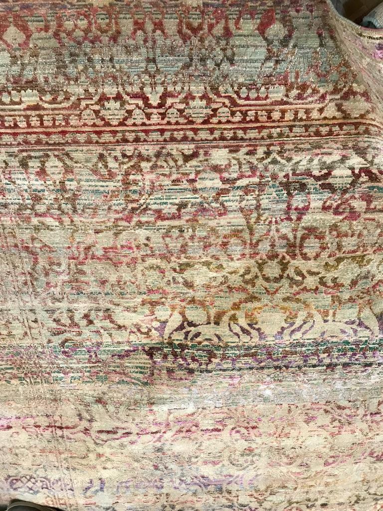 Fleurig en kleurig tapijt